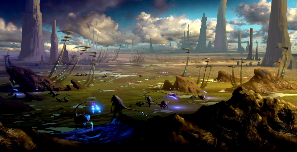 paintings planets and cities - photo #11